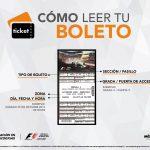 ¿Cómo leer tu boleto para el FORMULA 1 GRAN PREMIO DE MÉXICO 2016™?