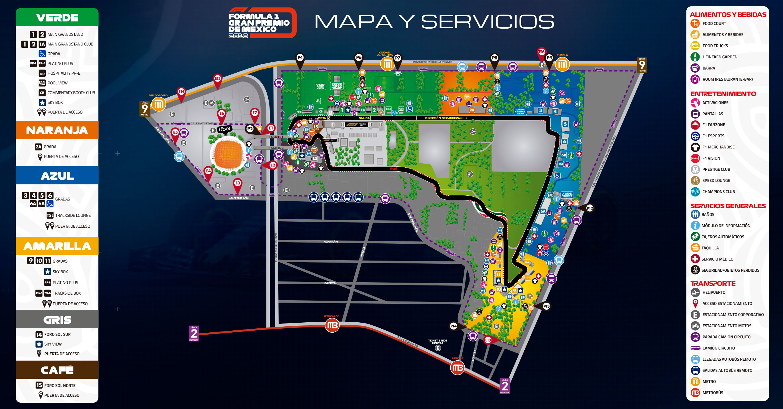 Mapa y servicios